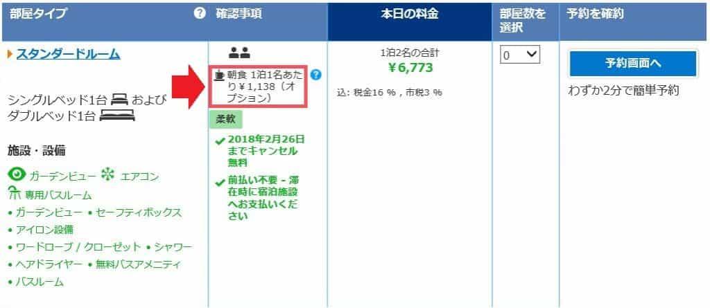 Booking.com朝食