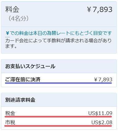 Booking.com税後払い