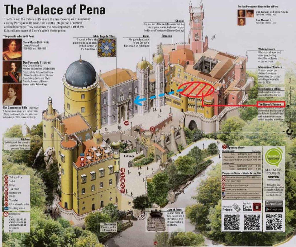ペーナ宮殿 間取図