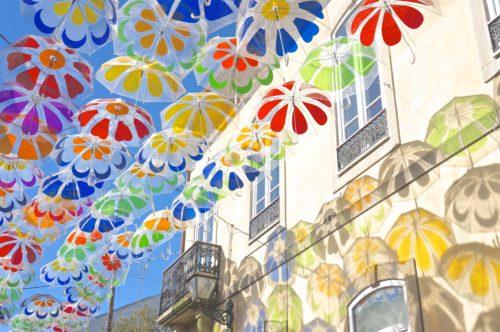 アゲダ Umbrella Sky Project ステンドグラス