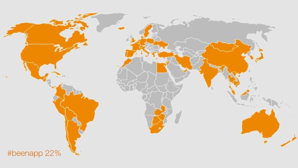 過去に訪れた国一覧