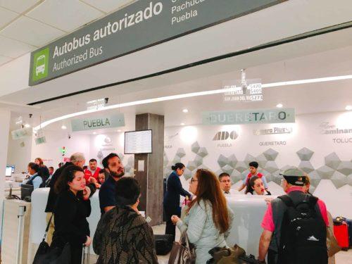 バス会社カウンター(メキシコシティ空港:Primera Plus)