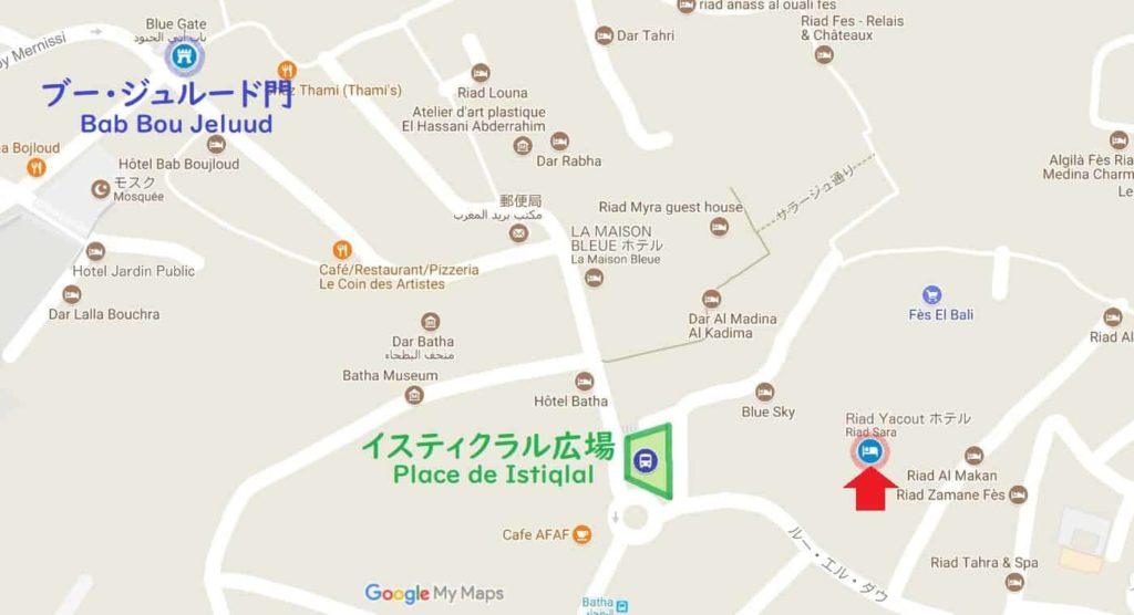リヤド サラ 地図