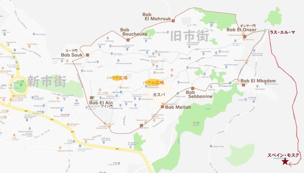 シャウエン地図(スペインモスク)