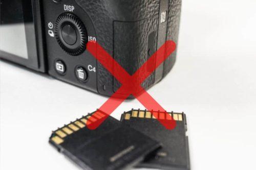 カメラとSDカード