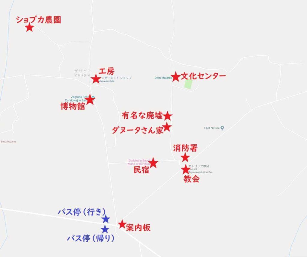 ザリピエ 地図