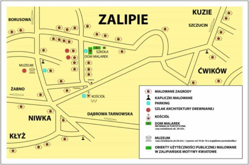 zalipie map