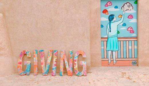 カラフルなウォールアート / バスタキヤ地区 / ドバイの写真素材