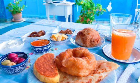モロッコ シャウエン 朝食
