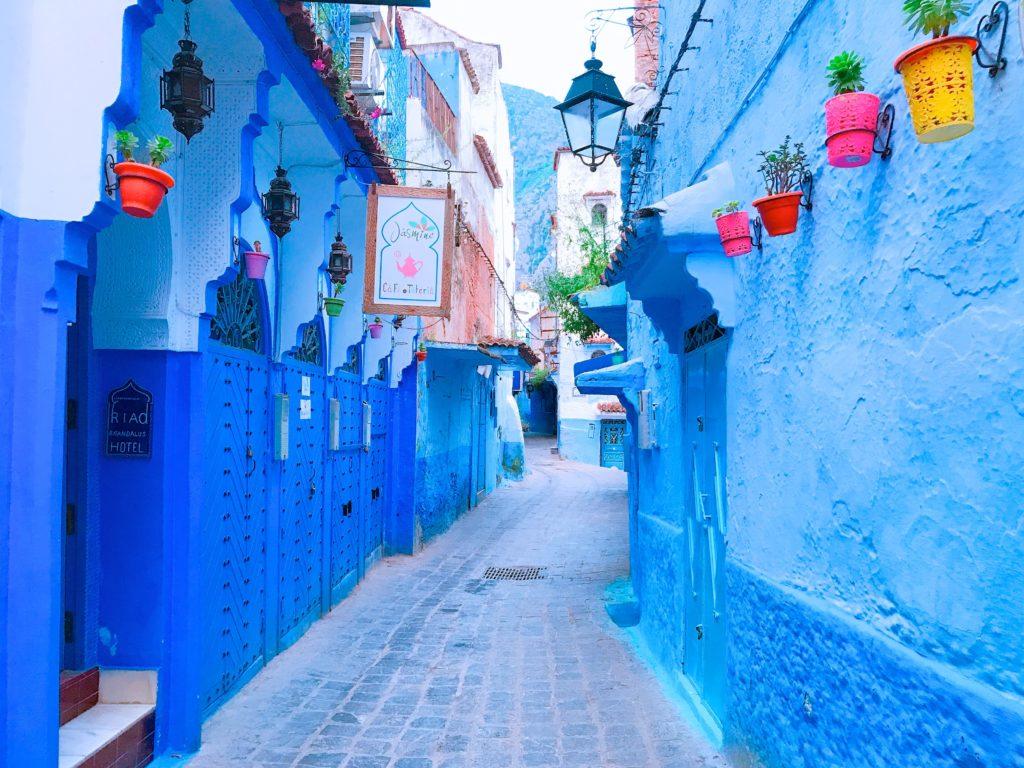 モロッコ シャウエン 青い街