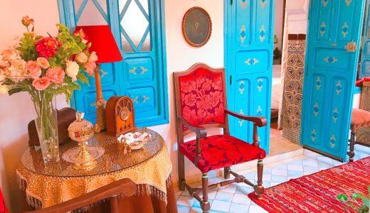 リヤドのオシャレなインテリア / シャウエン / モロッコの写真素材