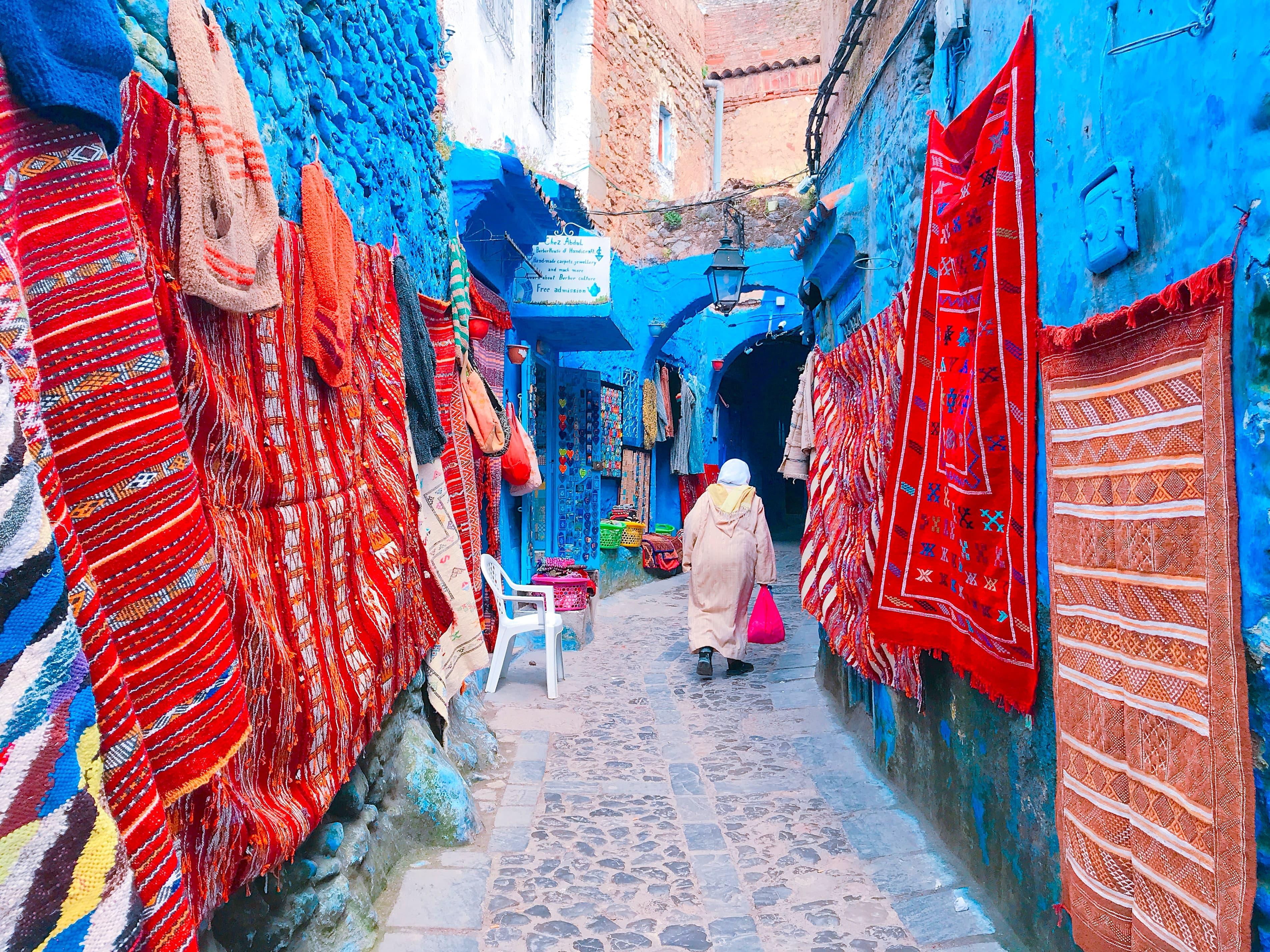 モロッコ シャウエンの土産屋