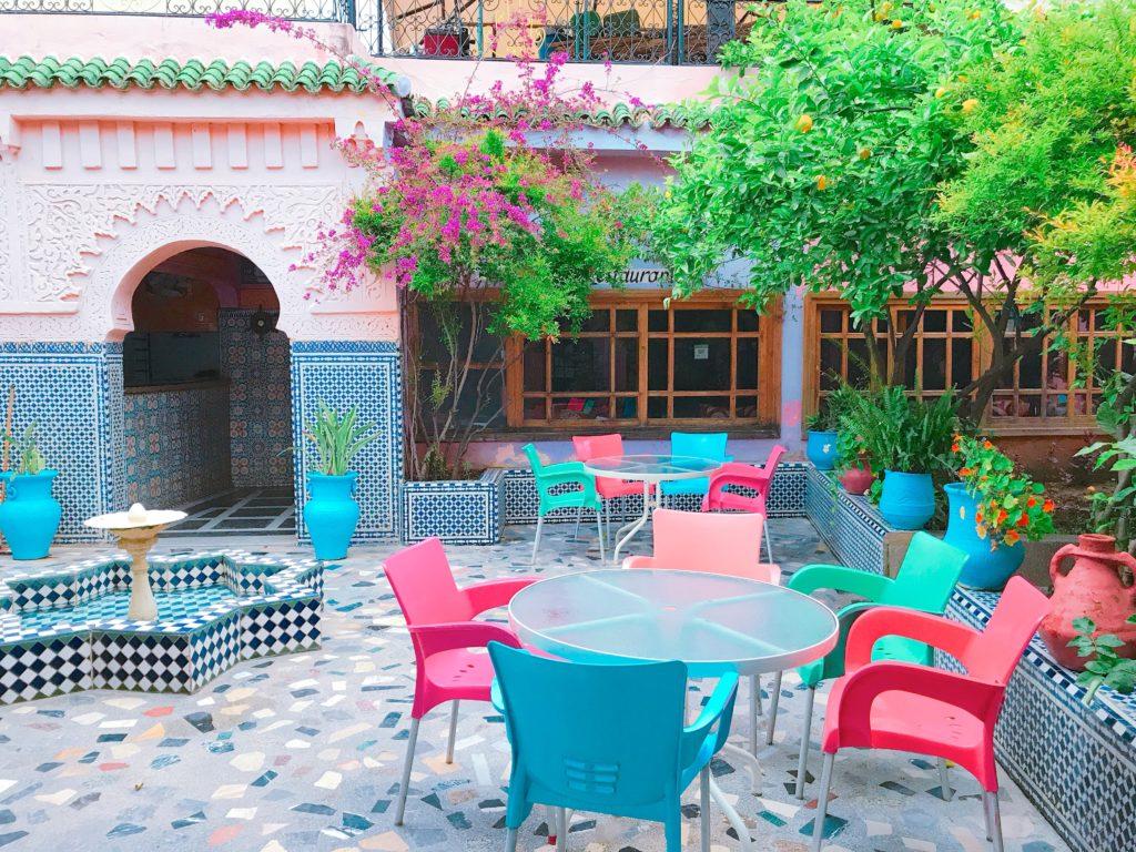 モロッコ フェズのカフェ