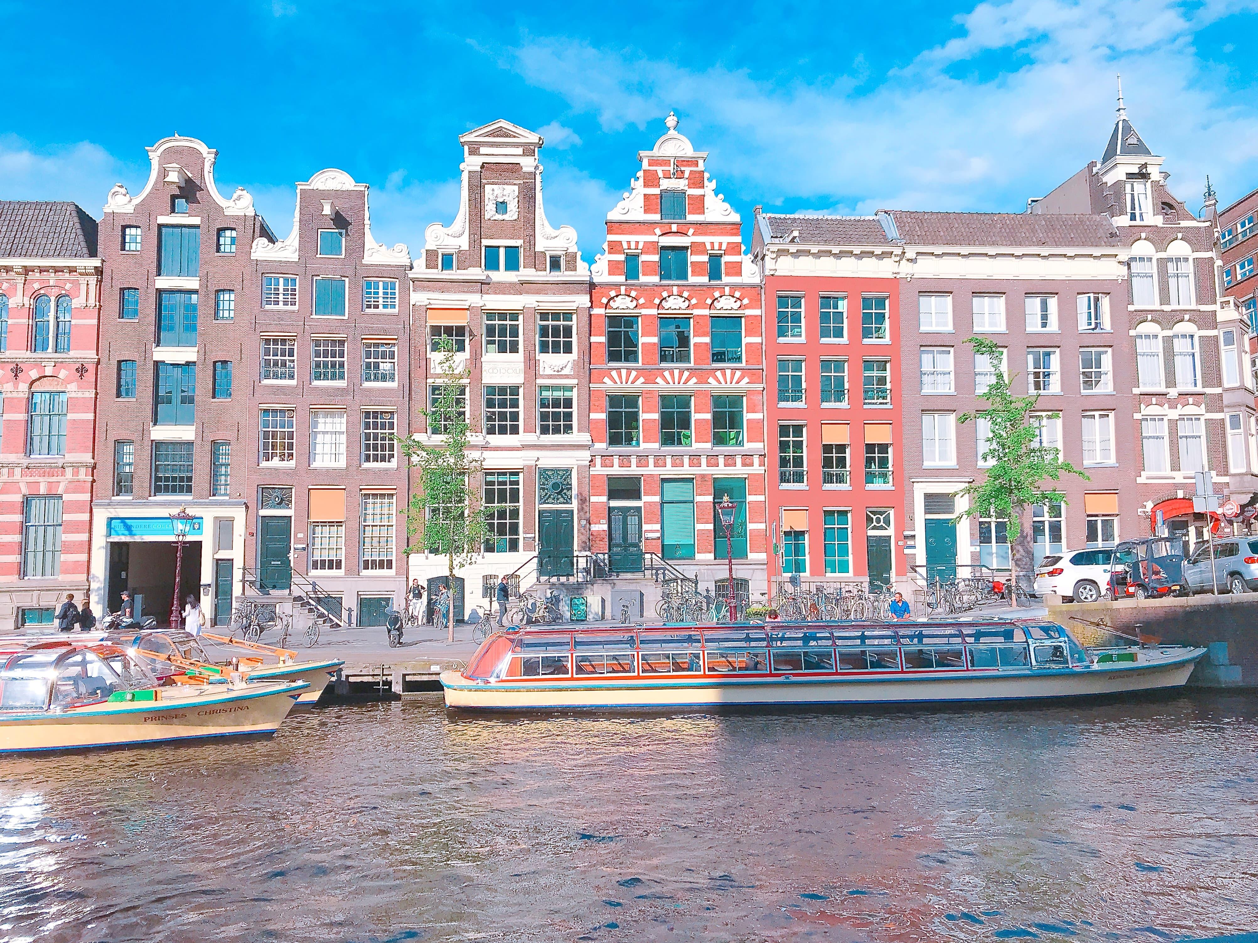 オランダ アムステルダムらしい町並み
