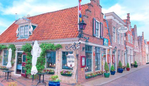 オシャレな外観のホテル / エダム / オランダの写真素材