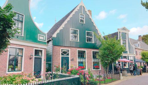 ザーン地方特有の緑の壁&白の窓枠の家 / ザーンセスカンス / オランダの写真素材