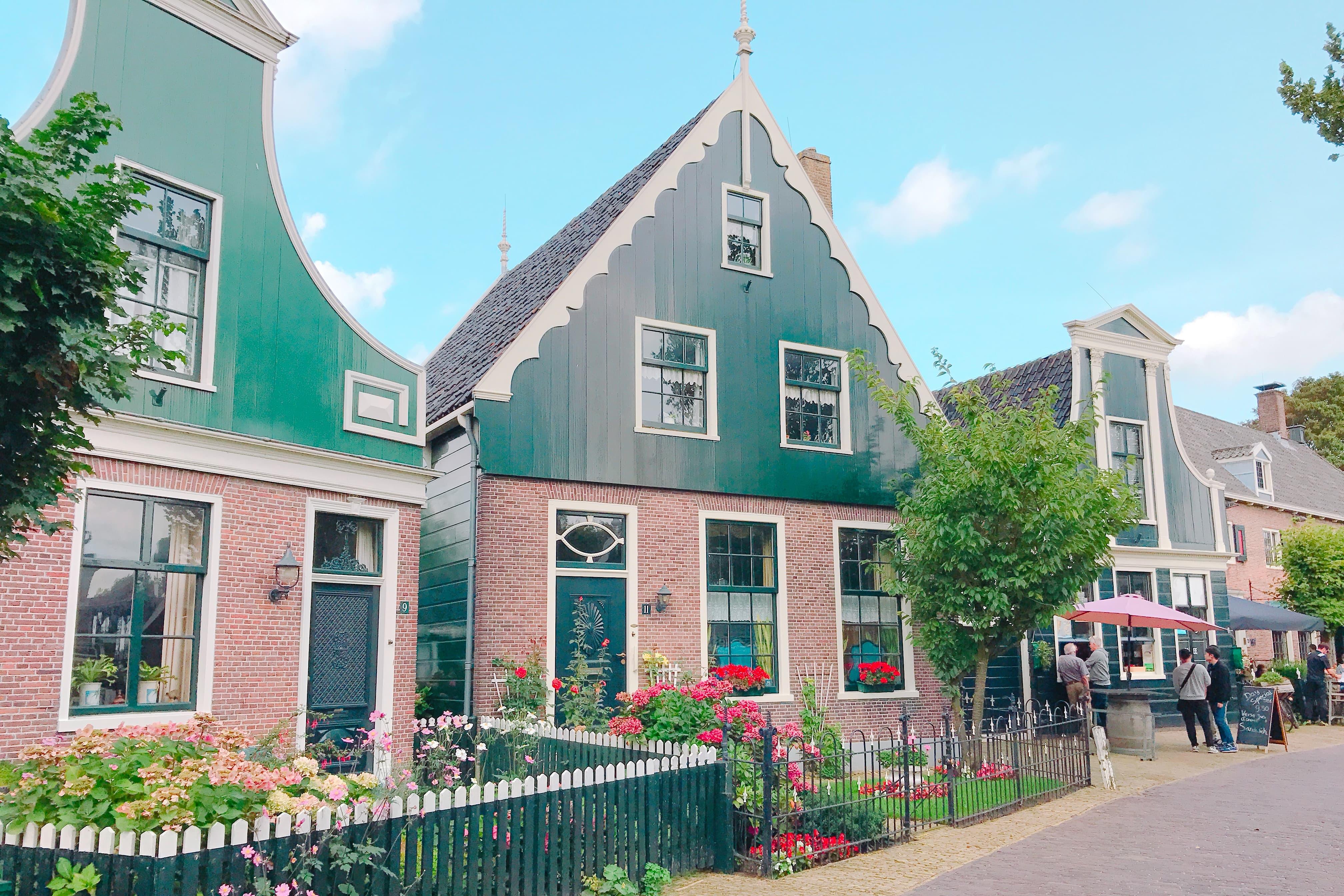 オランダ ザーンセスカンス ザーン地方特有の家