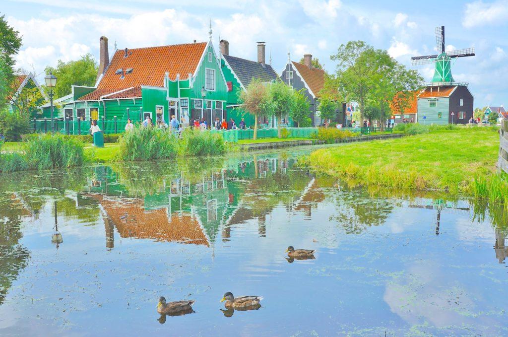 オランダ ザーンセスカンス のどかな風景