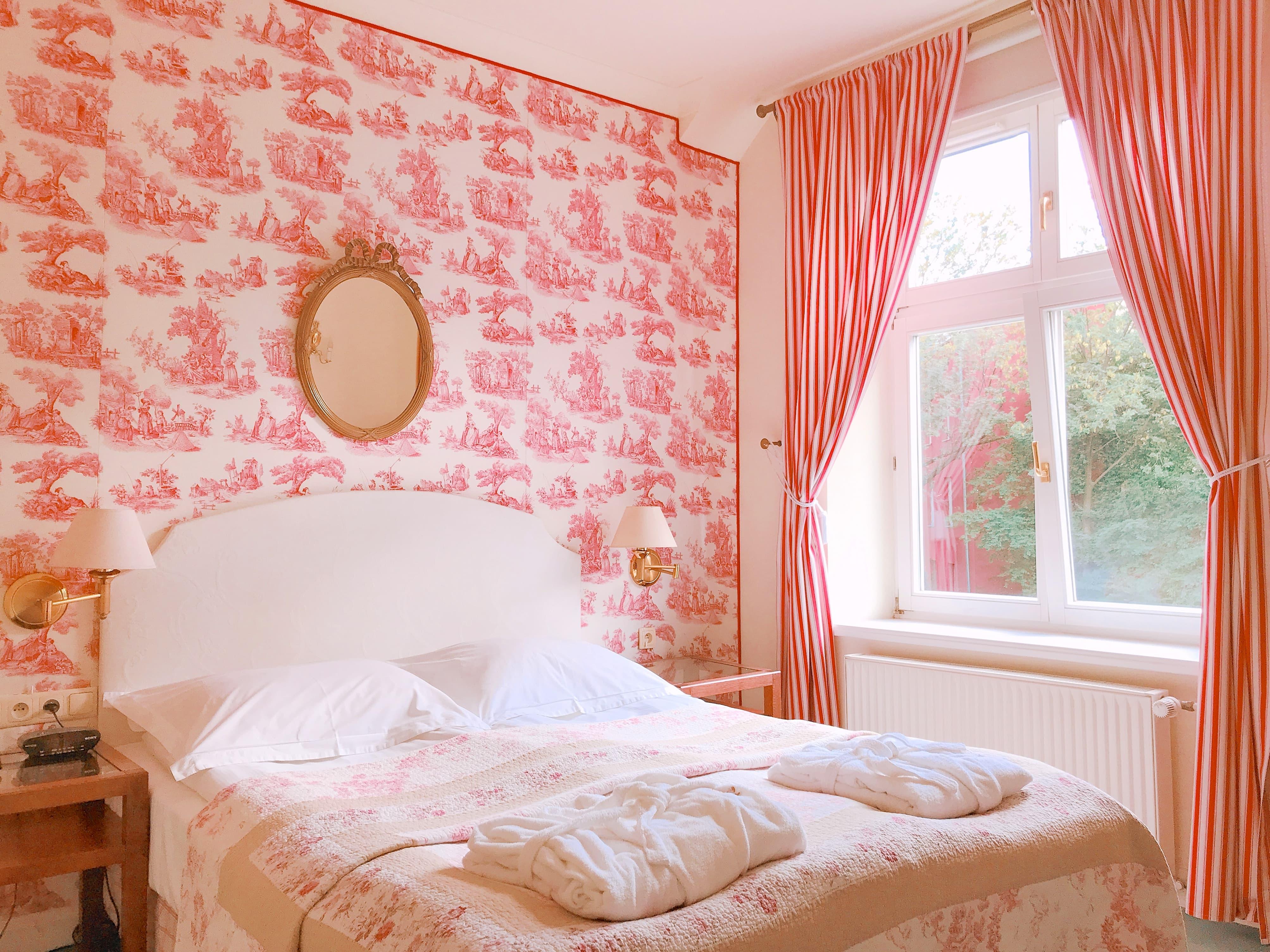 ポーランド クラクフのトワルドジュイ柄のお部屋