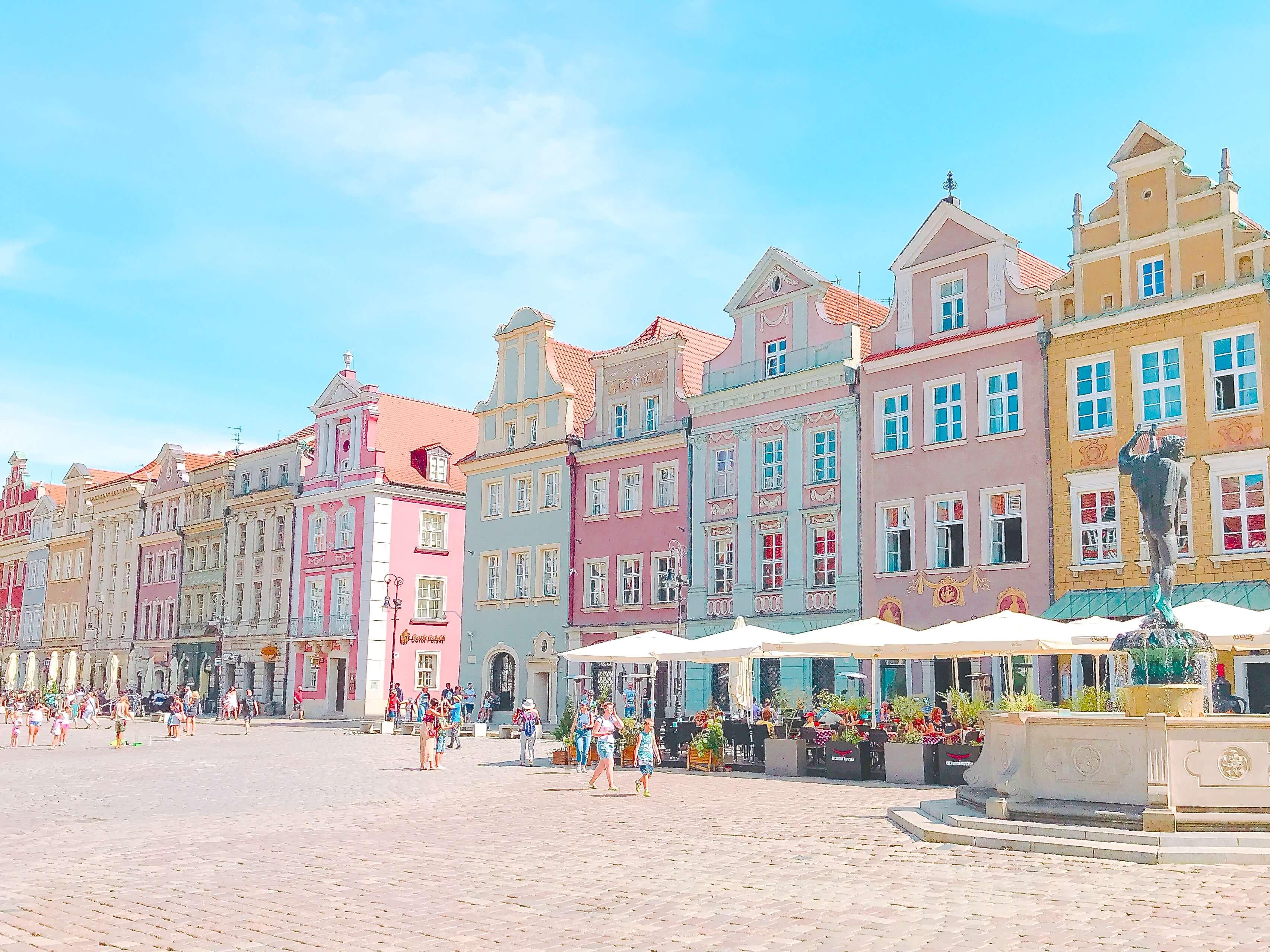 ポーランド ポズナンの旧市場広場