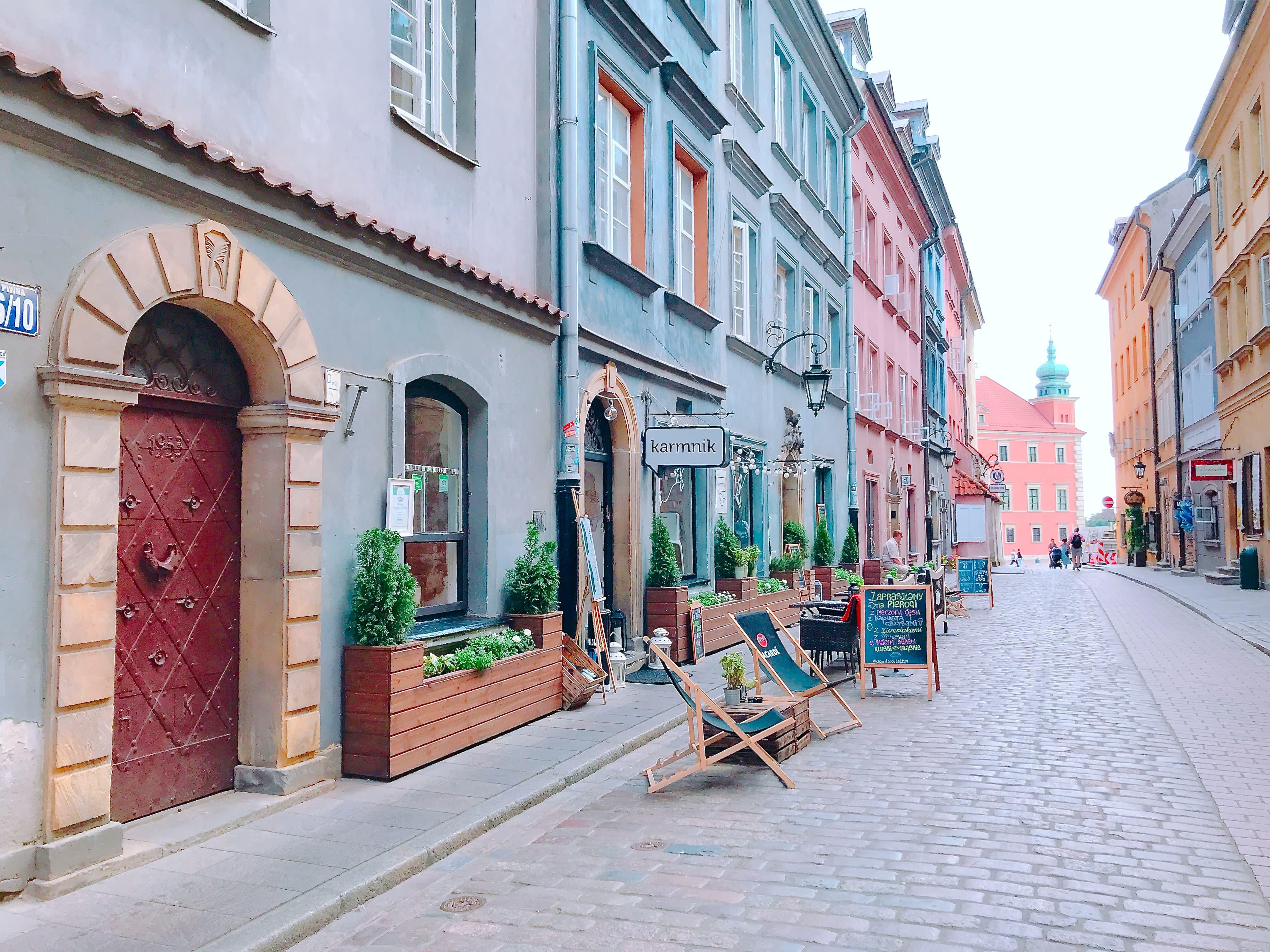 ポーランド ワルシャワのPiwna通り