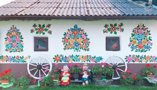 可愛らしい民家 / ザリピエ / ポーランドの写真素材