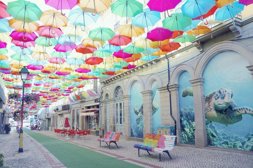 ポルトガル アゲダの傘祭り2017