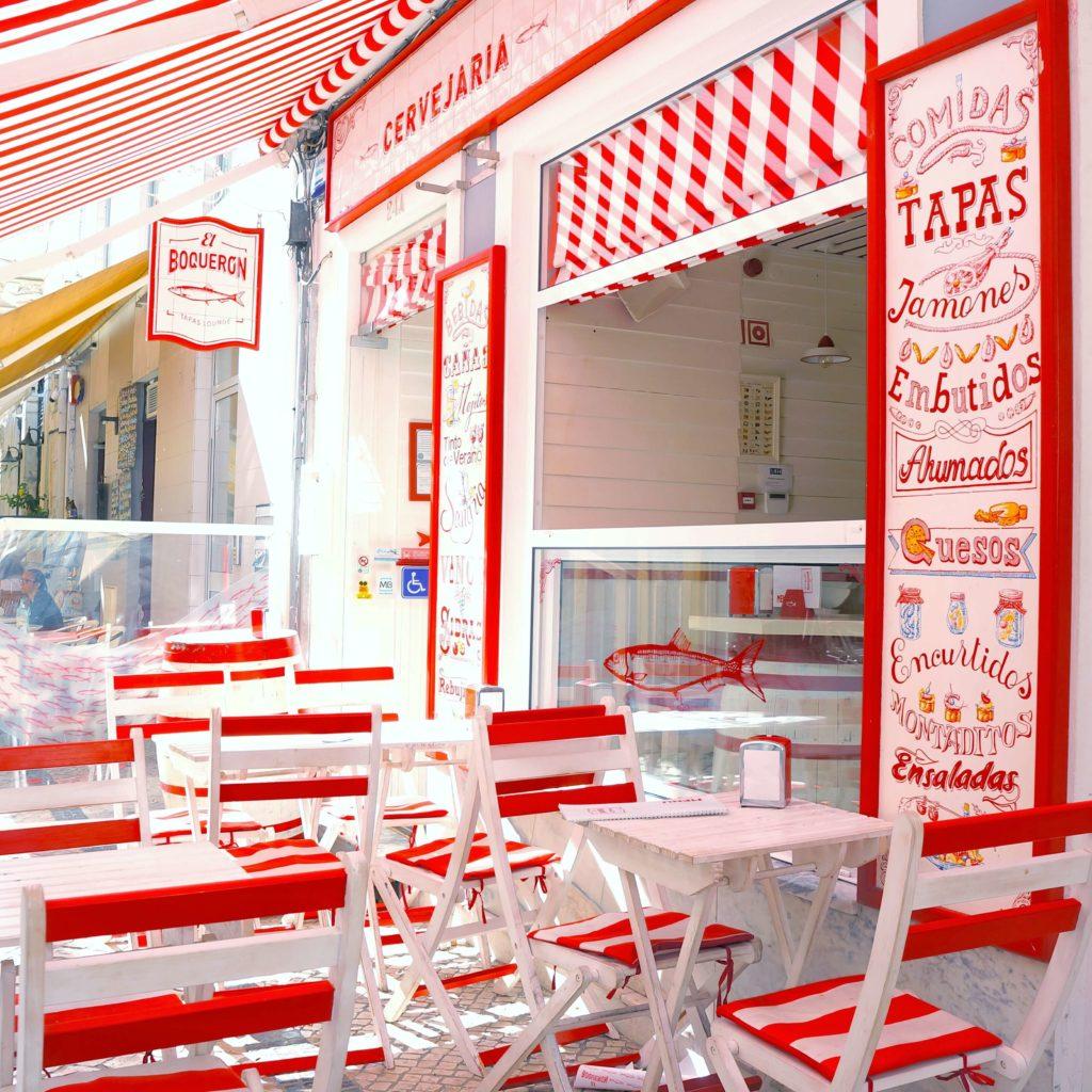 ポルトガル アヴェイロ ストライプ柄が可愛いタパスのお店