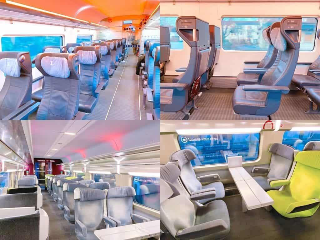 ヨーロッパ鉄道 1等座席