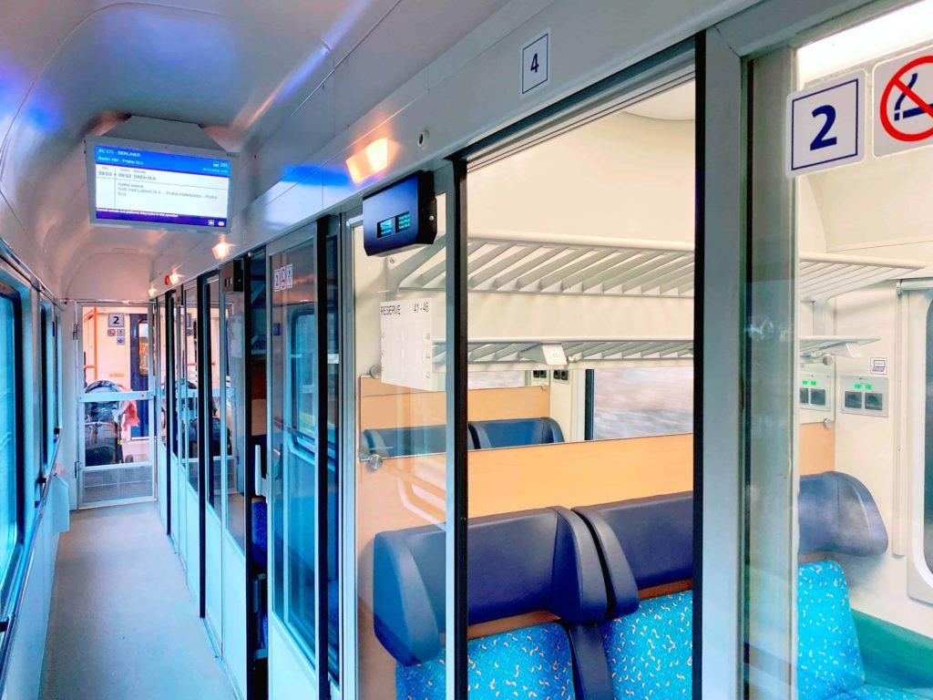 ヨーロッパ鉄道 2等座席 コンパートメント