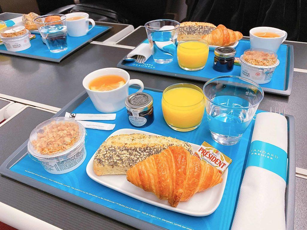ヨーロッパ鉄道 ユーロスターの食事
